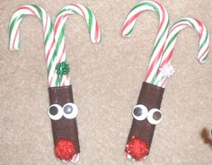 candy cane crafts  Great to put on gifts