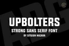 Upbolters is a strong uppercase which comes as a regular & italic version. It works great for headlines and signs. Sans Serif Fonts, All Fonts, Strong Font, Premium Fonts, Cricut Design, Improve Yourself, Typography, Creative, Signs