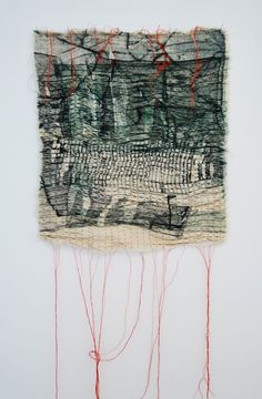 Maeve Coulter - Earth-Bound - Collograph Print on Fabric, Pleated & Stitched