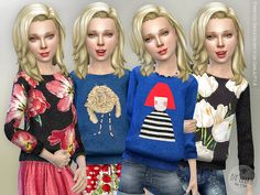 Printed Sweatshirt for Girls Found in TSR Category 'sims 4 Female Child Everyday' Sims 4 Teen, Sims 4 Toddler, Sims Cc, Sims 4 Cc Kids Clothing, Sims 4 Mods Clothes, Kid Clothing, Children Clothing, Kids Outfits Girls, Girl Outfits