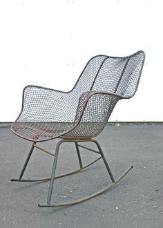 Mid Century Modern Russell Woodard Sculptura Rocking Chairs Eames