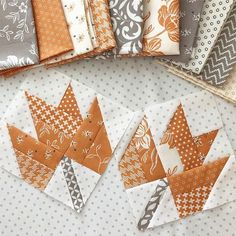 I'm making Maple blocks with some All Hallow's Eve fabric. Such a perfect way to use up these leftovers! 🧡 Maple is available on my… fabric crafts, Patch Quilt, Quilt Blocks, Quilting Projects, Quilting Designs, Quilting Ideas, Patchwork Quilt Patterns, Halloween Quilts, Fall Quilts, Miniature Quilts