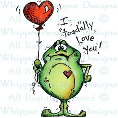 """I """"Toad""""ally Love You - Love Images - Love - Rubber Stamps - Shop Funny Frogs, Cute Frogs, Frog Quotes, Frog Drawing, Frog Pictures, Frog Art, Frog And Toad, Love Images, Diy Scrapbook"""