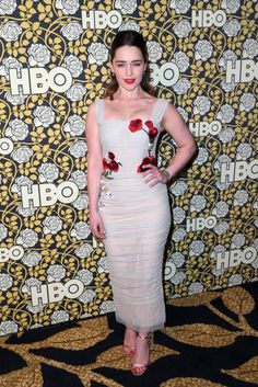 Fabulously Spotted:Emilia Clarke Wearing Dolce and Gabbana – HBO's Post 2016 Golden Globe Awards Party
