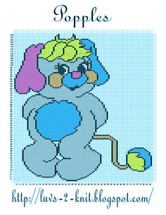 I love Popples!  Crochet Popple Graphgan.