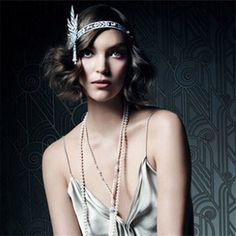NEW Bridal Great Gatsby 1920s Vintage Style Headpiece Pearls Charleston Headband #Unbranded