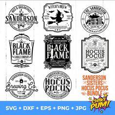 Sanderson Sisters SVG Mega Bundle, Black Flame Candle SVG, Sanderson Brewing Co, Hocus Pocus Svg, Witch's Brew svg, Brewing Co, Sublimation