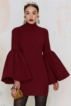 Nasty Gal Kiss and Bell Mini Dress - Clothes   Dark Romance   Dark Romance   Get Discovered   Shift   Dresses