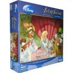 Disney-Artist-Series-Toby-Bluth-Teatime-With-Alice-1000-Piece-PUZZLE-0