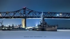 The USS Massachusetts sits stuck in a sheet of ice at Battleship Cove, in Fall River, Massachusetts. #photography #fallriverma #fallriver #massachusetts #newengland #history #war