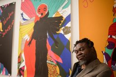 Yinka Shonibare MBE has focused his art owkr on breaking stereotypes and challenging the world's conception of culture. For his solo exhibit he thought of global conflicts which tend to be based around religion or the hierarchy of culture. Basically his art is about universal humanism. Megan S.