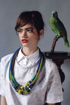 Frida Kahlo-ish!  From one of my favorite bloggers, supporting her local designers.  Pichulik SS14