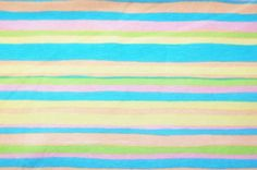 Banberry Place: Pastel Stripes Flap Happy Cotton Lycra Jersey Knit Fabric