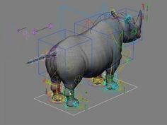 """This is """"rig Rhino, cycle, deform walk."""" by summatr on Vimeo, the home for high quality videos and the people who love them. Animation Tools, Animation Tutorial, Animation Reference, Art Reference, Character Rigging, 3d Character, Character Design, Blender 3d, Face Topology"""