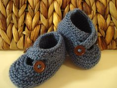 Tivoli Blue Baby Shoes Baby Booties Baby Photo Prop by KnitsDuNord. $20.00, via Etsy.