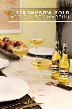 Kick off brunch with an easy martini recipe using Strongbow Gold Apple Hard Cider. This simple & delicious cocktail uses ingredients like fresh lemon juice and anise infused simple syrup to give it an unexpected punch of flavor. For an extra touch, garnish your finished drink with a fresh star of anise.