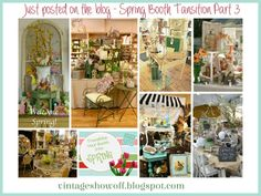 A 3 part series about transitioning your vintage-style booth in an antique mall booth into spring.