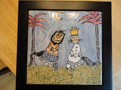 Footprint Ceramic Tile Max & the Wild Things by Sammalmax on Etsy Children Crafts, Toddler Crafts, Crafts For Kids, Foot Prints, Baby Prints, Kid Art, Art For Kids, Fingerprint Art, Creating Keepsakes