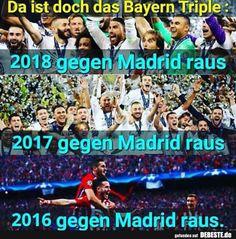 Da ist doch das Bayern Triple.. | Lustige Bilder, Sprüche, Witze, echt lustig