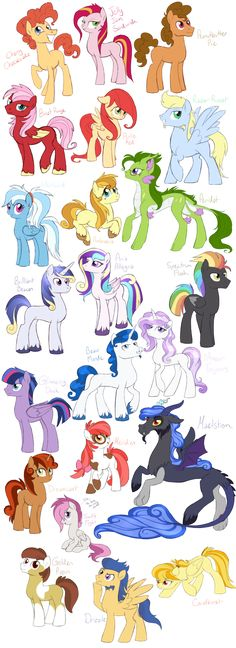 Next gen MLP, me? Nah, you must be thinking of someone else *slinks away* To be honest with you all, I'm not really one to ship canon characters much, a lot of the pairings I used were simply becau...