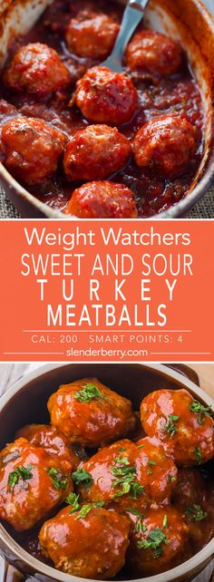 Weight Watchers Skinny Sweet and Sour Turkey Meatballs Recipe - 4 Smart Points - 200 Calories (Low Carb Chips Egg Whites)