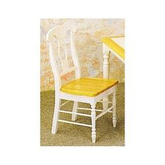 White And Natural Napoleon Dining Solid Wood Chairs Set Of 4