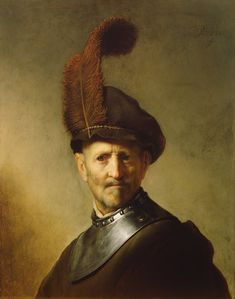Rembrandt: An Old Man in Military Costume (1630-31)