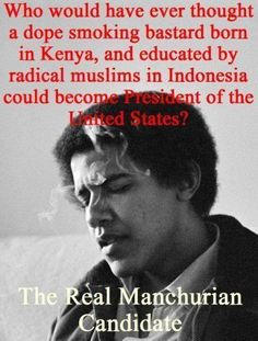Obama - The Real Manchurian Candidate no never would I have thought . The clock is ticking Obama . Ps your wife is a pig she has no class . She trash like you . Thats The Way, That Way, Thing 1, God Bless America, Our Country, New World Order, Barack Obama, We The People, Free People