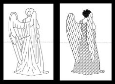 "Today's featured #crossstitch pattern: ""Don't blink. Blink and you're dead. They are fast. Faster than you can believe. Don't turn your back. Don't look away. And don't blink. Good Luck."" - The Doctor These pa... #blackwork #angel #christmas #christian #easy #quick #backstitch ➡️ http://etsy.me/2j0Bihw"