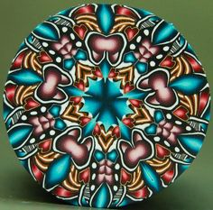 Circle Kaleidoscope Polymer Clay Cane - 'Intuition' (49cc)