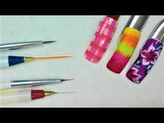 Pinceles para hacer diseños en las uñas - Cómo usar los pinceles para la decoración de uñas parte 2 - YouTube Youtube, Flower Designs, Fingernail Designs, Hands, How To Make, Beauty, Youtubers, Youtube Movies