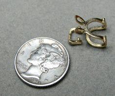 14K Yellow Gold  Pendant Hanger Slide Enhancer .82g - pinned by pin4etsy.com