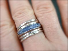 tanzanite rock candy stack ring by sirenjewels on Etsy, $58.00