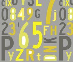Dining Window Seat? alphabet_citrus fabric by holli_zollinger on Spoonflower - custom fabric
