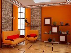 fototapete wald motive unikales wohnzimmer gestalten ... - Wohnzimmer Grau Orange