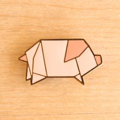 Origami Pig pin by Hug A Porcupine