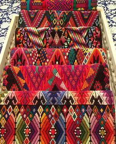 Artisan made global goods, focusing on the use of indigenous textiles, materials and techniques, with a modern & fun design aesthetic. Guatemalan Art, Guatemalan Textiles, Mexican Textiles, Indian Textiles, Mexican Fabric, Textile Pattern Design, Textile Patterns, Mexican Pattern, Textile Fiber Art