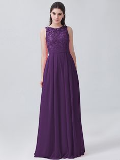 Lace and Chiffon U-back Dress