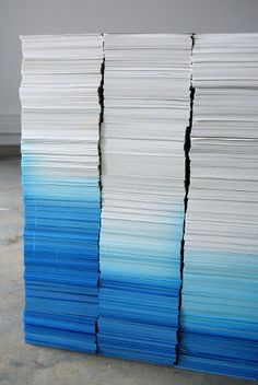 paper dipped in blue ink