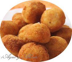 Croquetas de bacalao y patatas. Desde el blog ¡Aquí y Ahora! nos aseguran que su sabor es magnífico. ¡Habrá que comprobarlo!