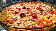 μια Πατάτα 🥔 μια Μελιτζάνα 🍆 ντομάτα 🍅 και τυριά και έχετε φαγητο που θ... Avocado Egg Rolls, Greek Dishes, Appetizer Dips, Greek Recipes, Vegetable Pizza, Quiche, Casserole, I Am Awesome, Food And Drink