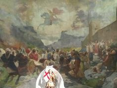 Mural en la Iglesia de San Jorge #FamTripMic #JuntosPodemos #Alcoy Saint George, Saints, Painting, Art, Alicante Spain, Spain Tourism, Lets Go, Cities, Scenery