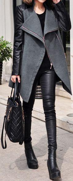 Grey & Black // #fall #fashion #addictedtoit