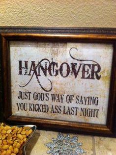 hangover.