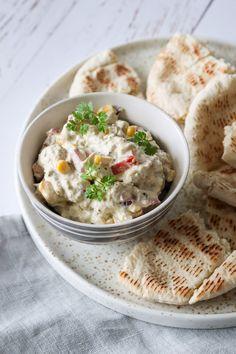 Salater Arkiv - One Kitchen - A Thousand Ideas First Kitchen, Baked Ham, Ham And Cheese, Hummus, Pesto, Oatmeal, Brunch, Sandwiches, Snacks