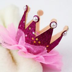 The Natural Hair Shop - Pink Princess Crown Hair Clip,Your one stop shop for satin pillowcases, satin bonnets, headbands, jumbows, and other great accessories for your natural hair! Baby Barefoot Sandals at The Natural Hair Shop | Natural Hair Kids | babygifts | baby shower gifts | it's a girl | natural hair | gifts for baby | gifts for kids | pregnancy | maternity |back to school | headbands | hair accessories
