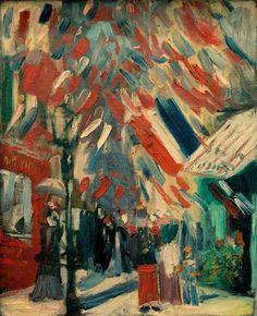 14th Of July celebration in Paris Summer 1886 - Vincent Van Goah