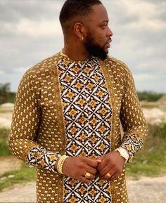 Nigerian Men Fashion, African Print Fashion, Fashion Prints, Men's Fashion, Fashion Outfits, African Shirts, African Clothes, African Attire For Men, Black Men