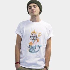 King of the sea 100%cotton tshirt di cocofactory su Etsy