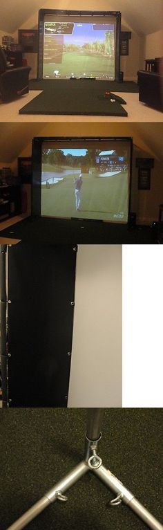 Nets Cages and Mats 50876: Golf Simulator Hd Impact Screen Frame 120 X 105 Side Walls And Mat For Skytrak -> BUY IT NOW ONLY: $995 on eBay!